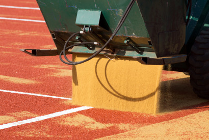 Euroclay synthetic clay court installation