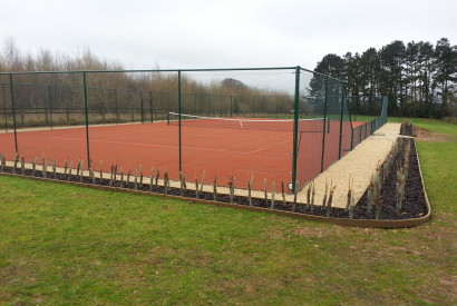 Finished tennis court installation