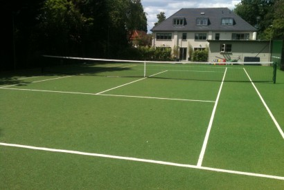 A private synthetic grass court installation