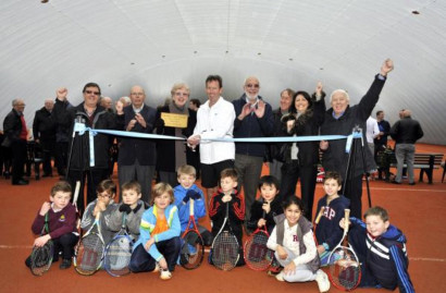 Billericay Tennis Club's indoor court wait is over